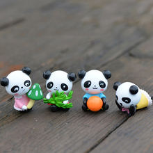 Cute mini panda model animal figurines dollhouse Toys miniatures/terrarium micro fairy garden dolls DIY accessories ornaments