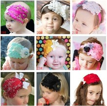 New arrival 10Sets/lot Fascinator Feather Headbands Boutique SequinHair Band Kids Shiny Headwears with rhinestones Free Shipping