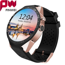 PINWEI Smart Watch Electronics Android MTK6580 Quad Core Processor Heart Rate 3G Wifi Wireless SmartWatch Support SIM GPS Camera