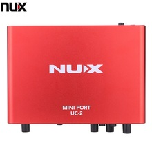 NUX UC-2 Mini Port USB XLR 6.35mm Input Output Audio Interface for Mic MIDI Instrument Recording Playback