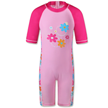 Girls Rash Guard Kids Long Sleeve One Piece Swimsuit Sun Protection (UPF50+) Bathing Suit for Baby Girls Children Beach Wear