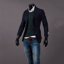 New Hot Single Breasted Casual Stylish Men Slim Fit One Button Suit Formal Coat Jacket Male Blazers 013