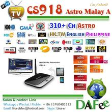 Quad Core CS918 MK888 Android HD IPTV TV Box Astro Malaysia/Chinese/Thai/Vietnam Popular 310 Channels 1 year DHL Free Shipping