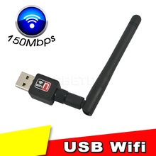 150mbps Mini Wireless USB Wifi Adapter With Antenna 802.11n/g/b Network LAN Card high speed For Laptop Desktop  XP WIN 7 8 Linux