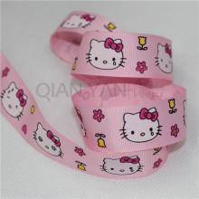 Free shipp!25mm wide Hello kitty Cat pink ribbons accessories Ribbon clothing materials 5 yards Wedding Party Decoration