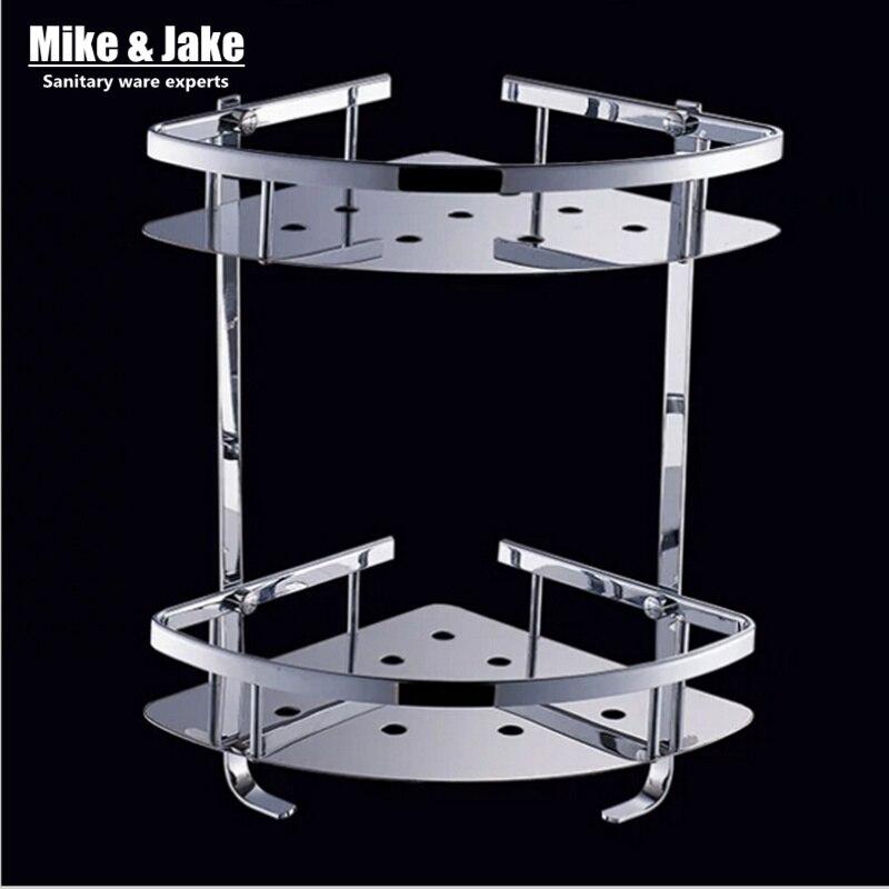 Stainless steel 304 bathroom corner shelf shower room rack for body wash bottle toilet table shelf dresser rack holder<br>