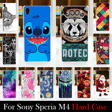 For SONY Ericsson Xperia M4 Aqua Dual E2303 E2333 E2353 Case Hard Plastic Cellphone Mask Case Protective Cover Housing Skin Mask
