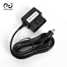 ChonChow OBD 3pin Male To Mini USB Connector Power Charging Charger Convert Cable For Car DVR Digital Video Camera GPS(China)