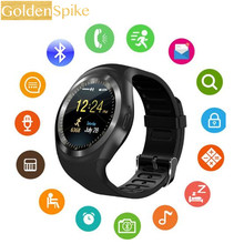 Y1 Smartwatch Bluetooth Smart часы Reloj Relógio 2 г GSM SIM приложение синхронизации Mp3 для Apple iPhone Телефонов Xiaomi Android PK DZ09 KW18(China)