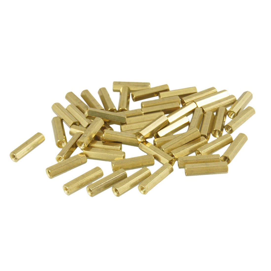 CLOS 50 Pcs Gold Tone Hexagonal 18mm Long M3 Female Thread Standoff Spacer<br><br>Aliexpress