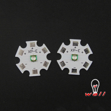 10pcs  3w 660nm smd3535 uv led Cree type led chip XP-E 1-3W 660nm LED Emitter deep red LED with 20MM heatsink