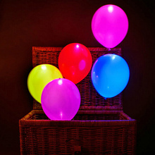 5pcs/set Irradiative LED Ballons Colorful Led Hellium Ballon Light Festival Party Club Weeding Birthday Party Balloons Supplies