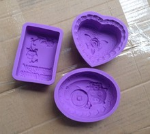 The silicone mold square soaps About 95 g English flowers out of soap mold(China)