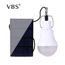 New LED Solar lamp 15w 130lm No flicker Solar Energy saving bulb lamp for Camping Tent Fishing Courtyard Emergency lighting(China)