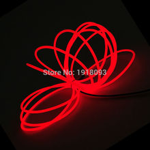 New type 3.2mm 2Meters 10 colors Choice Flexible EL wire rope Energy saving LED Strip Neon light Powered by DC-3V Driver(China)