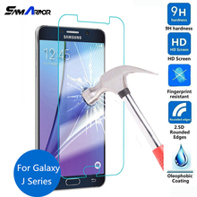 9H Tempered Glass Protective Film Case For Samsung Galaxy J1 Ace J2 J3 J5 J7 2016 2015 J100F J110H J500 J310F J510F(China)