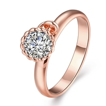 Big Promotion Plated Wedding Ring Lace Style CZ Inlaid Jewelry Women's Charm Accessory Nice Gift
