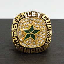Solid 1999 Dallas Stars Stanley Cup Hockey Championship Copper Ring 8-14size Fans Gift Collect(China)
