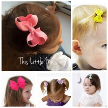 20pcs/lot children Hair Accessories Boutique /Hairclips, Grosgrain Ribbon Pinwheel Girls' Hair Bow with clips for headband