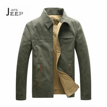 AFS JEEP New Design 2017 Business Man's Jacket,Zipper Fly Cardigan Double Side Casual Father's Ventilate Jacket,Mid age Man Wear