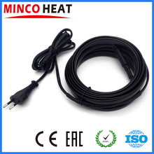 Automatically Power Output Self Regulating Heating Pipe Freeze Protection EU Plug Attached Pre-assembled Heating Cable(China)