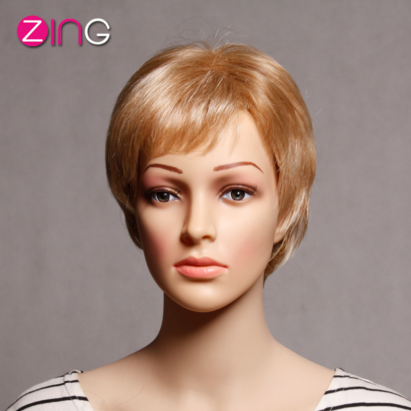 Cheap Good Quality Wigs Synthetic Cute Short Haircuts Short Blonde Wig Zing Hair Hot Pelucas Sinteticas Perruque Synthetic Women<br><br>Aliexpress