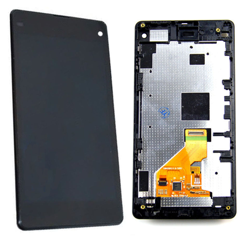 Black LCD Display Touch Screen + Frame For Sony Xperia Z1 MiNi Compact D5503<br><br>Aliexpress