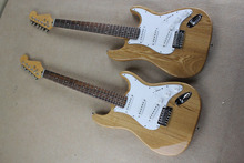 Free Shipping Stratocaster Custom Shop wood Signature Electric Guitar Chrome Hardware @31(China)
