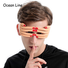 Funny Finger Shaped Halloween Mask Decoration Party Costume Favors Adults Photo Booth Props Glasses Accessories Supplies(China)