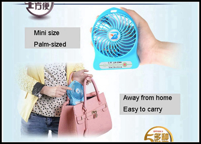 LISHUO USB rechargeble Mini Fan 10