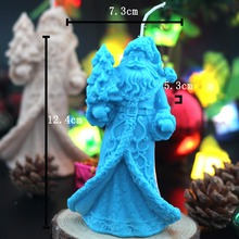 LZ0151 Nicole Factory Wholesale 3D Xmas Santa Claus Molds Silicone Soap Candle Moulds Christmas Mold