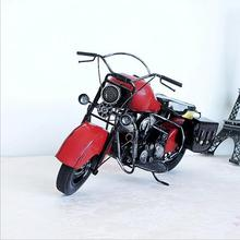 Vintage large size motorcycle model creative graduation gift handcrafts craft ornaments home decor scooter model(China)