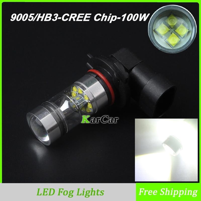 High quality 100W 1000LM CREE Chip XBD 9005 LED Front Fog Lights Bulb, HB3 Daytime Running Driving Light Fog Lamp 6000K White<br><br>Aliexpress