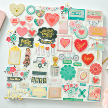 ZFPARTY 50pcs With Love Cardstock Die Cuts for Scrapbooking Happy Planner/Card Making/Journaling Project(China)