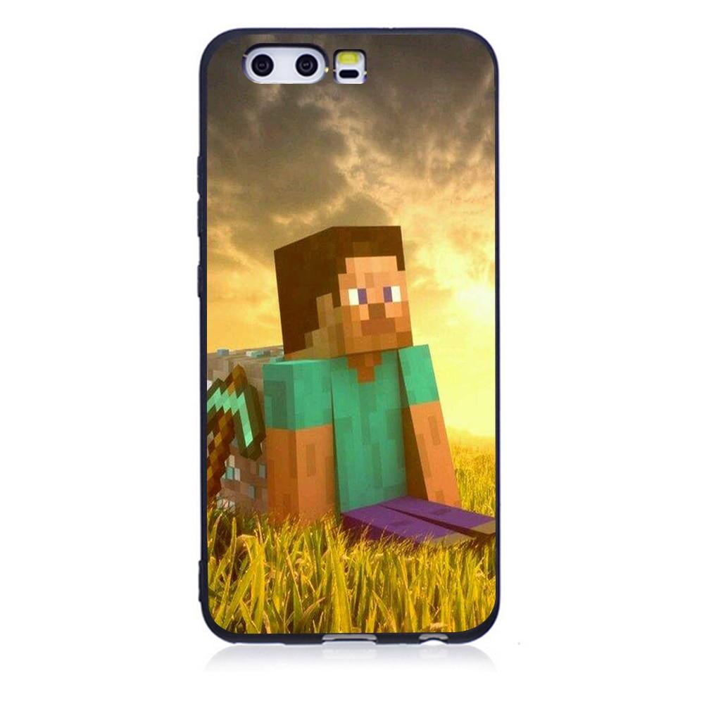 windows Minecraft Soft TPU Phone Case For Huawei P10 P20 P20 ...