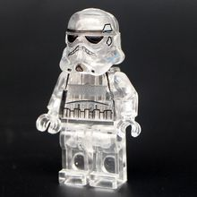 Single Sale Star Wars Transparent Stormtrooper Clone Trooper Imperial Shuttle Building Blocks Collection Toys for children PG40(China)
