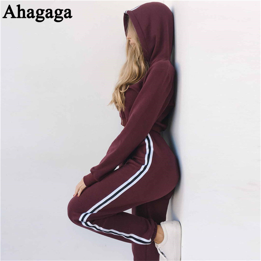 Women's Tracksuits Set, Casual Hooded Sweatsuit Set 31