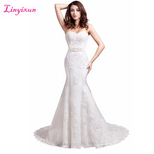 Buy Linyixun Real Photo Sexy Mermaid Wedding Dresses Sweetheart Wedding Gowns Lace Bride Dress 2017 Robe de mariage Vestido de noiva for $154.16 in AliExpress store