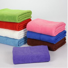 New Microfiber Bath Towel 70*140cm Solid Large Beach Towel 8 Color Available Quality Quick Dry Towels For Bathroom(China)