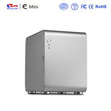 Realan black htpc computer case mini pc case aluminum  itx case