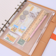 1PCS/LOT A5/A6/A7 Storage Bag School Office Supply Transparent Loose sheet Notebook zipper Self-sealing File Holder(China)