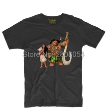 Moana Maui image Mens & Womens Band Tee O-neck T Shirt