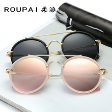 ROUPAI Rushed Top Fashion Oculos Wrap vintage driving Erika new clubround Classic rb sunglasses Women luxury Brand Designed(China)