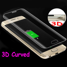 For S7 edge Glass Full Cover 3D Curved Tempered Glass Film For Samsung Galaxy S7 Edge S6 edge plus Protective film