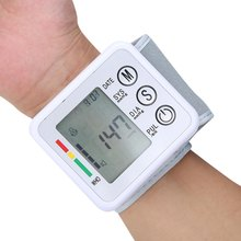 Time and date Display Blood Pressure Automatic Wrist Blood Pressure Pulse Monitor Digital Upper Portable Sphygmomanometer(China)