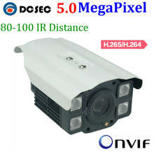 H.265 Onvif 5 MP 1/2.5 Ti CMOS Security Bullet Megapixel P2P Fixed Lens with PoE Network CCTV IP Camera with free bracket