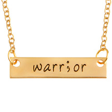 Fashion 1 PC Creative Warrior Inspirational Good Friends Necklace Europe And The United States Jewelry Wholesale