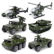 6pcs/set 1:87 alloy Alloy metal car Baby Diecasts Toy Vehicles model boys fire truck military Policy car toys for children PT775