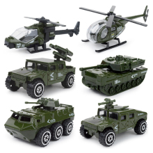 6pcs/set 1:87 alloy Alloy metal car Baby Diecasts Toy Vehicles model boys fire truck military Policy car toys for children PT775(China)