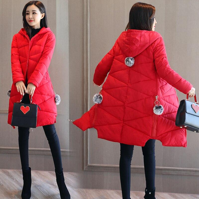 QIMAGE New Winter Women Parkas Hooded Slim Long Winter Jacket Coat Warm Cotton Padded Coat Ladies Winter Outwear Plus size M-XXLÎäåæäà è àêñåññóàðû<br><br>